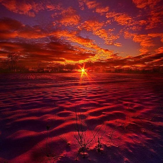 Snowfield Sunset ... @kochphil