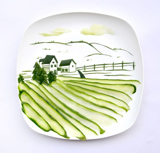 Bucolic countryside scene with cucumber #food is #art