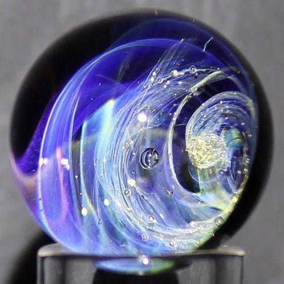 Dusty Gamble #1156 |  Lampwork Glass Marble | Light Appreciation Device