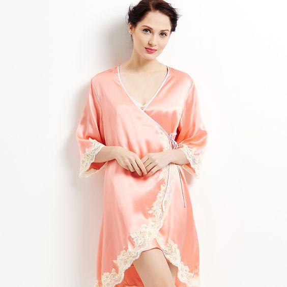 silk nightgowns best silk pajamas long silk robes for women https ...