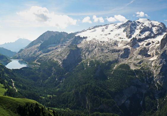 Lake Fedaia and Marmolada, Dolomites, Italy