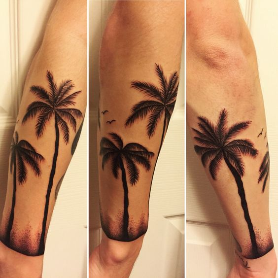 Florida Palm Tree Tattoo: Palm Trees, Palms And Dots On Pinterest