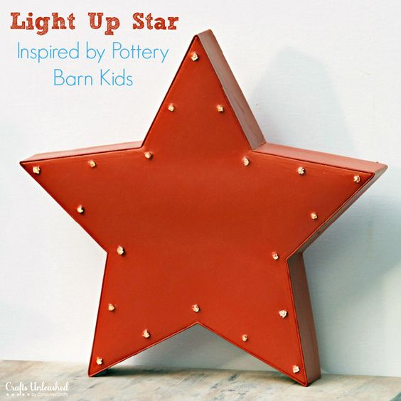 Pottery Barn Star String Lights : PB Kids Inspired Decor: DIY Light Up Star Tutorial Crafts, Pottery barn kids and Decor