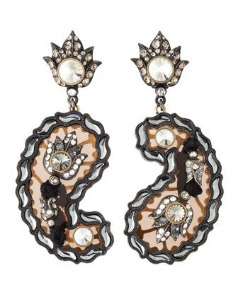 Crystal+Paisley+Drop+Earrings+by+Lanvin+at+Neiman+Marcus.