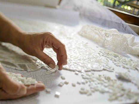 Il mosaico si ispira ai merletti del passato