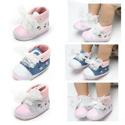 Newborn Baby Boy Girl Pram Shoes Toddler Pre Walking Faux Leather Shoes 0-18 M