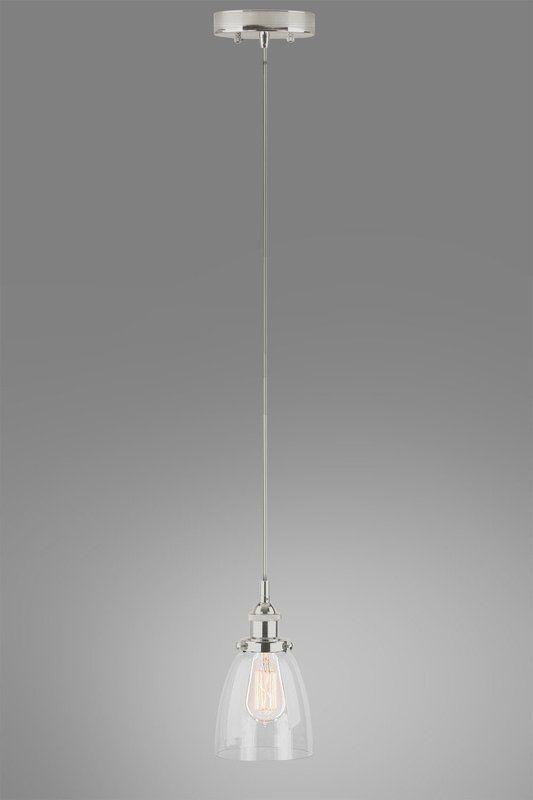 Bundaberg 1 Light Single Bell Pendant Transitional Pendant Lighting Lamp Glass Shades
