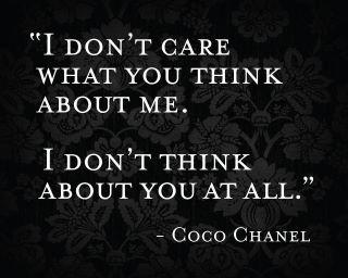 Ah, Chanel...