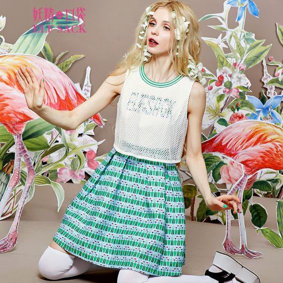 girly style sleeveless spring dress
