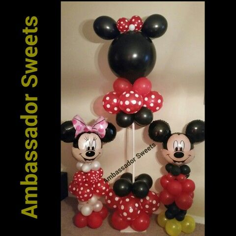 Mickey and Minnie Mouse balloon decorations