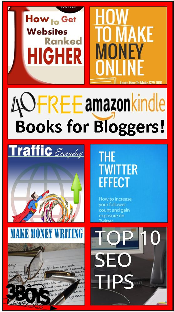 """""""40 Free Kindle Books for Bloggers""""    http://3boysandadog.com/2013/12/40-free-kindle-books-for-bloggers/?40+Free+Kindle+Books+for+Bloggers"""
