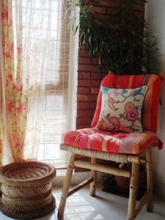 Canto do Feng Shui: Cortinas e Feng Shui: Cozy Nooks, Bohemian Interiors, Decor Ideas, Indian Decor, Accessories Interiors, Indian Homes