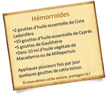 huile essentielle cyprès hémorroides