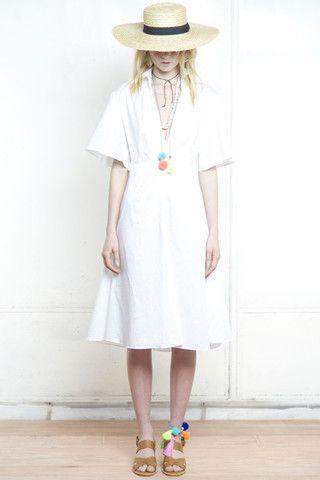 FRENCHY FLARED BACK SHIRT DRESS WHITE – Shakuhachi