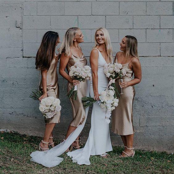 v back dress short dress champagne midi dress cream bridesmaid dress open back bridesmaid dress beige short dress Open back prom dress
