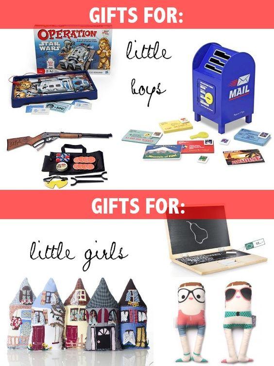 gifts for: little boys // little girls