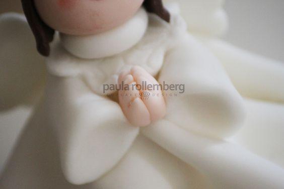 Bolo batizado Anjinha