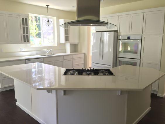 Custom kitchen: white on white with white quartz