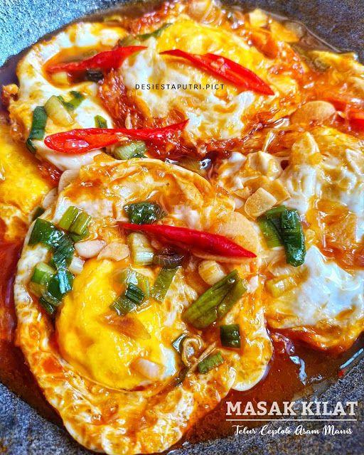 Resep Telor Ceplok Asam Manis Pedas Favorit Resep Spesial Resep Masakan Telur Goreng Masakan