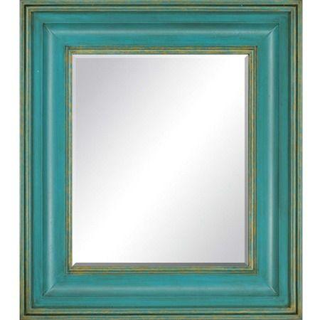 Teal frame wall mirror mirror frame pinterest for Teal framed mirror