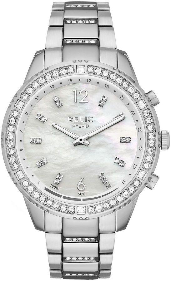 RELIC Relic Eliza Womens Silver Tone Smart Watch-Zrt1000