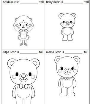 math worksheet : goldilocks and the three bears  measurement worksheet students  : Goldilocks And The Three Bears Worksheets Kindergarten