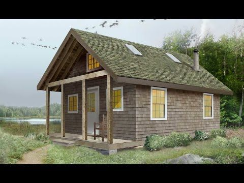 Build Your Own Beautiful 16 X 25 Cabin Hide Away Full Cabin Plans And Instruction Package Complete With Drawing Build Your Own Cabin Shack Ideas Cabin Plans