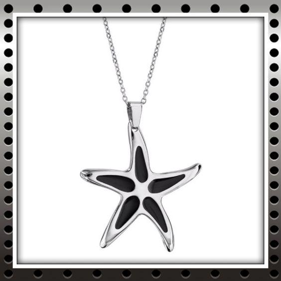 Pendentif étoile de mer en acier