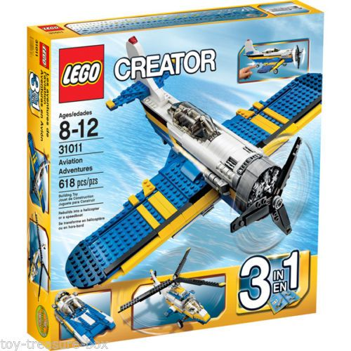 Lego Creator 31011 3 In 1 Aviation Adventures 618 Pc Set Ages 8 12 Yrs Lego Creator Lego Building Sets Lego