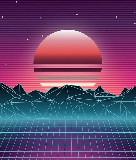 Sunset Vaporwave Aesthetic Poster By Maizephyr In 2021 Vaporwave Aesthetic Pink Aesthetic Aesthetic Art