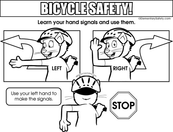 Hand Signals • Coloring Bicycle Safety