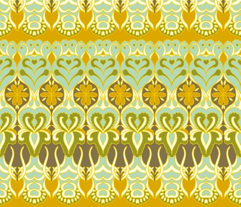 flower_wave fabric by holli_zollinger on Spoonflower - custom fabric