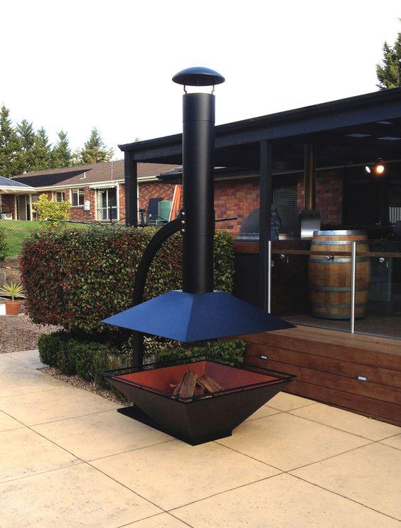 ESTIA DESIGN Outdoor Fireplace Caminus 1100. www.estiadesign.com.au