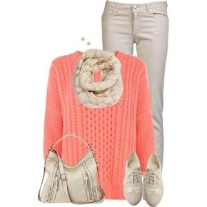 Colored Sweater and Neutrals