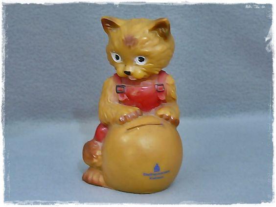 Weiteres - alte Sparkatze / Spardose Katze - ein Designerstück von…