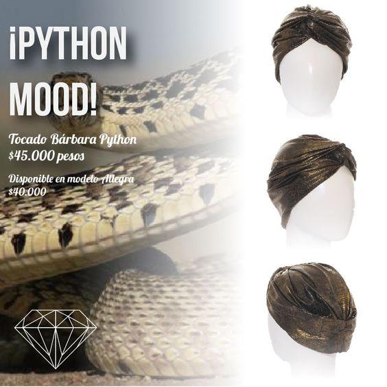Python Mood Turbante Allegra y Bárbara Python #Turban #Turbante #Cancer #Fashion
