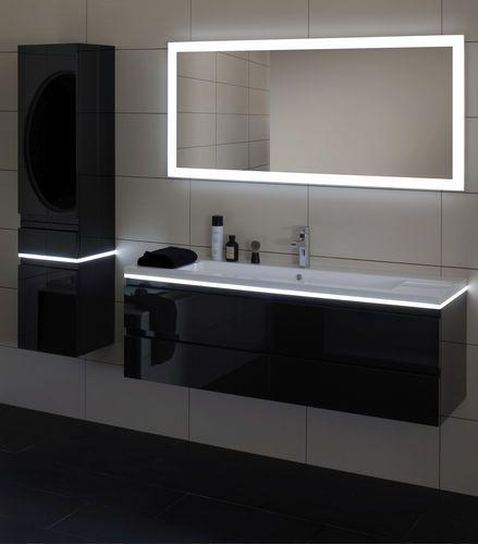 Miroir lumineux de salle de bain led halo sanijura condo pinterest ba - Grand miroir salle de bain lumineux ...