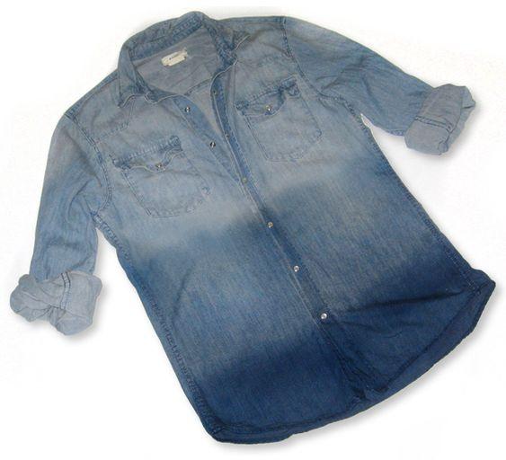 DIY Ombre Denim Shirt