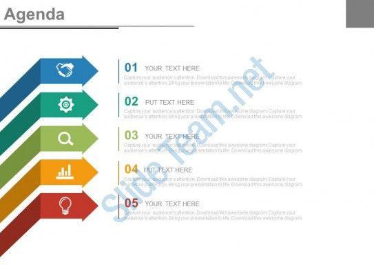 Design Impressive Agenda Slide for PowerPoint Presentation - agenda