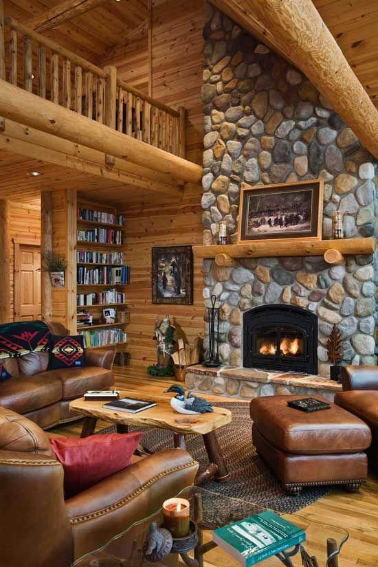 Top 60 Best Log Cabin Interior Design Ideas Mountain Retreat Homes Livingrooms Woods Fireplaces Stones Window Home Fireplace Log Cabin Homes Cabin Homes