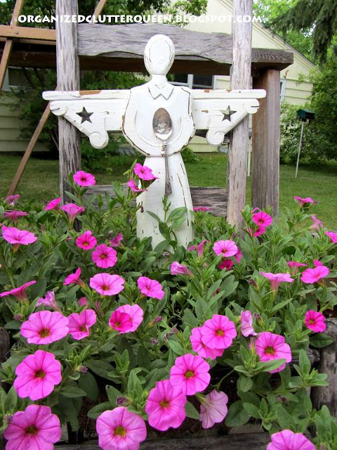 Thrift Store Angel in Carlene's Garden @ Organized Clutter