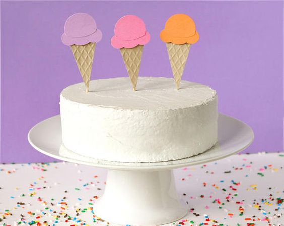 Ice Cream Party Cake Decorations | Kids' Parties: Candy / Dessert ...