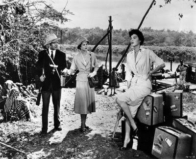 ava gardner and grace kelly ~ Mogambo 1953
