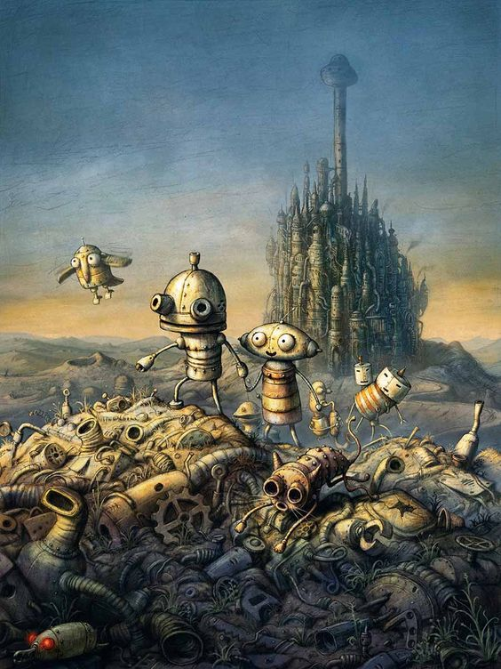 Machinarium - a computer game, but art nonetheless. Easy game for kids but I enjoyed it too. Just a big kid I guess.