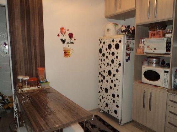 Decoração de geladeira com papel contact – Fotos | Grzero
