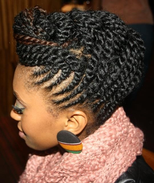Fine Twist Hairstyles Black Girls And Twists On Pinterest Hairstyle Inspiration Daily Dogsangcom