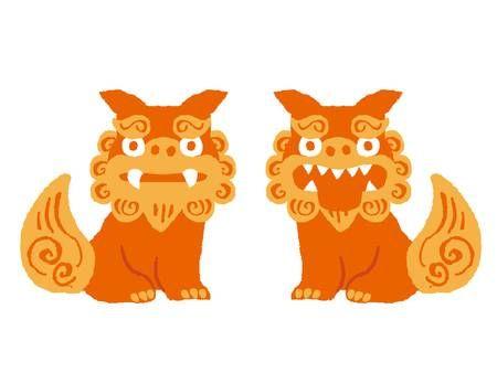 Okinawa House Of Guardian Angel Dog Clip Art Okinawa Kawaii Doodles
