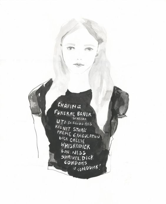 Feminismo, Whisky y Camisetas | Amanda Manitach  #illustration