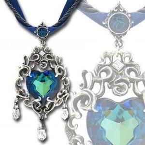 Alchemy Gothic Empress Eugenie's Blue Heart Diamond Necklace