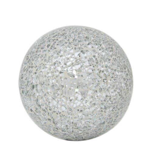 Merriam Decorative Mosaic Decorative Ball World Menagerie Colour Silver Size 8cm H X 8cm W X 8cm D Mosaic Glass Drip Painting Mosaic